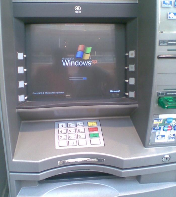 Los bancos le pagar n a microsoft para que soporte windows for Los cajeros automaticos